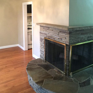 Finished Fireplace - Dove Reno